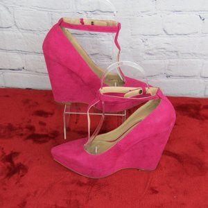 ZARA Trafaluc Pink Platform Wedge Heels Womens 5.5